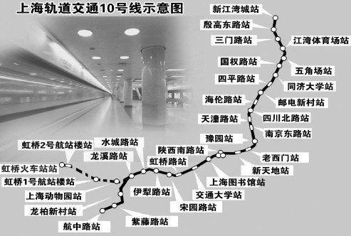 上海地铁10号线线路图(资料图)
