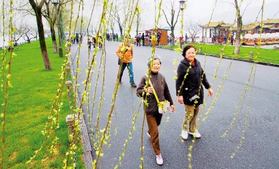 杭州 昨天 入春 本周 晴雨 相间 周末 有较强 降温