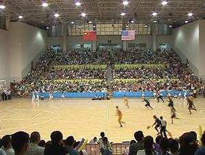 2012年中美男子篮球对抗赛在文成县举行