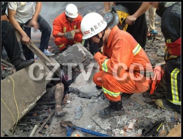 温州 爆炸 23人被埋 市长 指挥