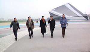 李云林视察金华市体育中心
