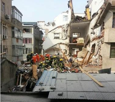 绍兴民房倒塌中被埋3人全找到 但已无生命体征