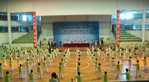"""宁海千人柔力球展示庆第五个全国""""全民健身日"""""""