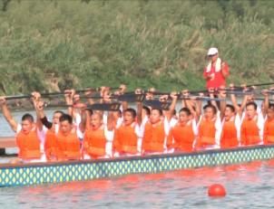 浙江省第二届体育大会龙舟赛在兰溪举行
