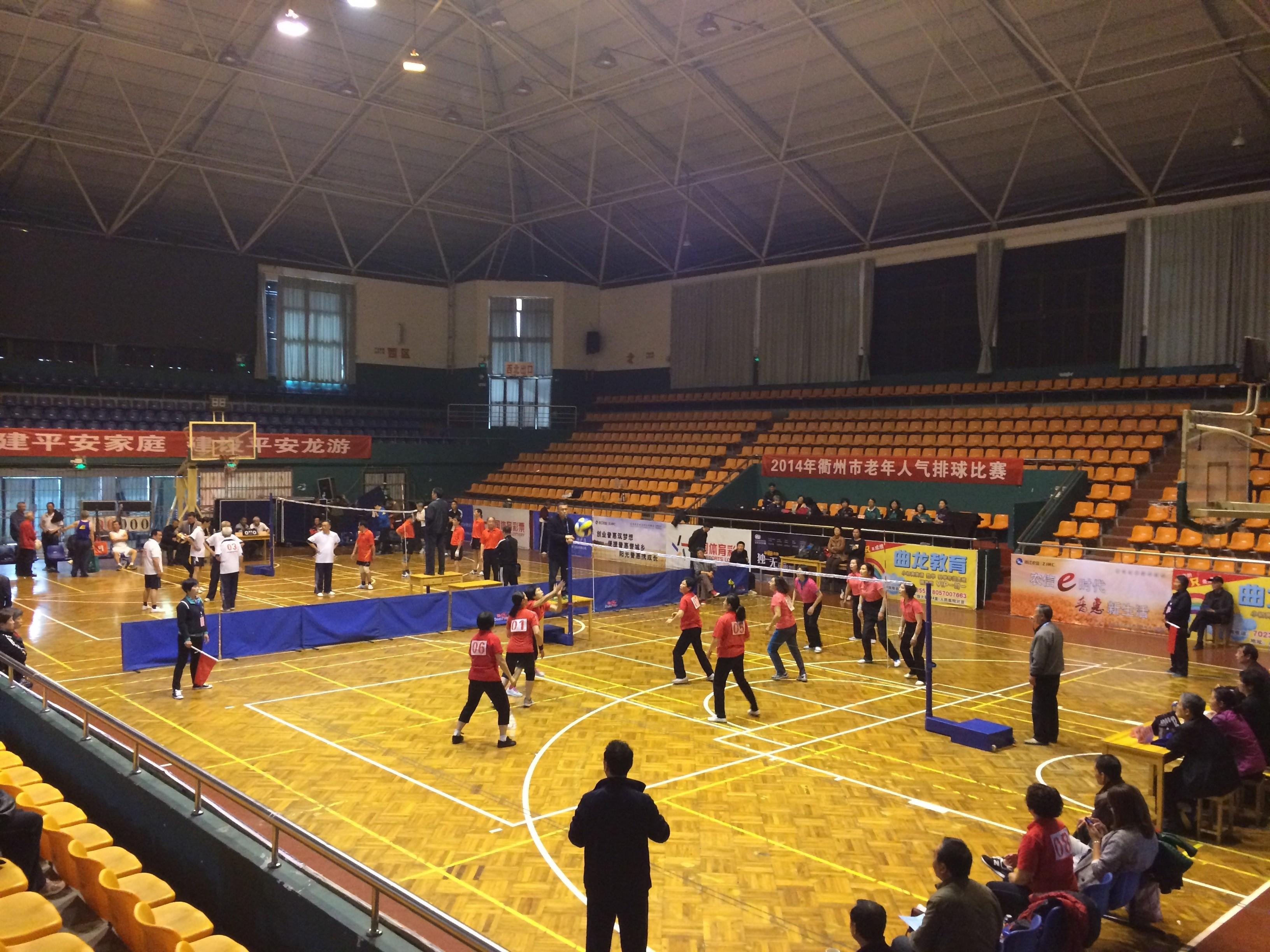 【龙游县】举行老年人气排球比赛