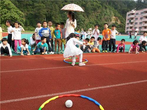 """【开化县】天地外国语学校举办""""你丢我捡""""比赛"""