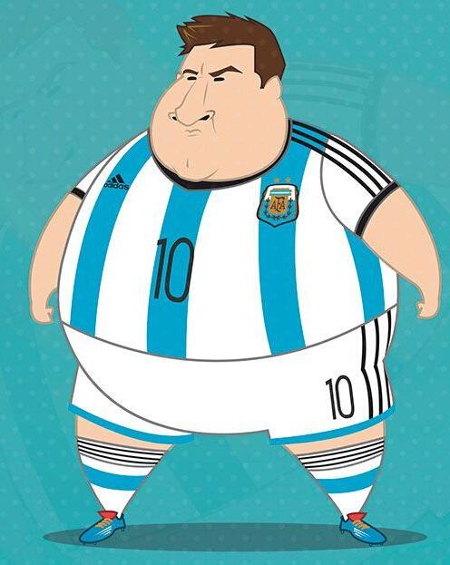 【世界杯】创意无限  梅西C罗鲁尼变大肚腩