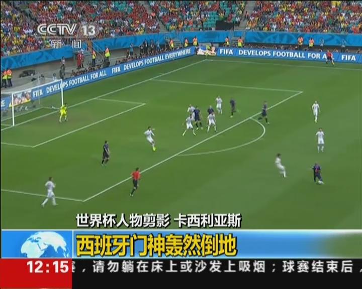 世界杯人物剪影  卡西利亚斯:西班牙门神轰然倒地