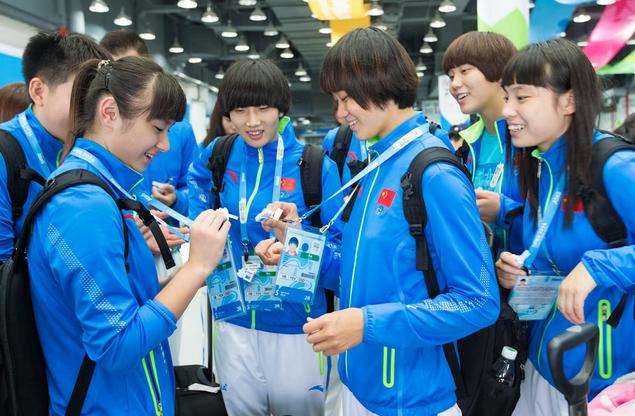 中国代表团抵达南京入住青奥村