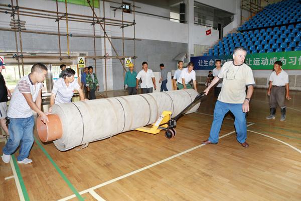 【开化县】地掷球世锦赛标准赛道开始安装