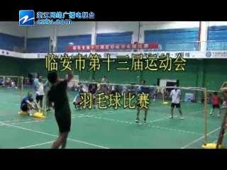 【临安市】第十三届运动会羽毛球比赛
