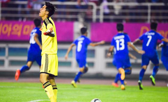 【足球】国奥0-2不敌泰国止步亚运16强
