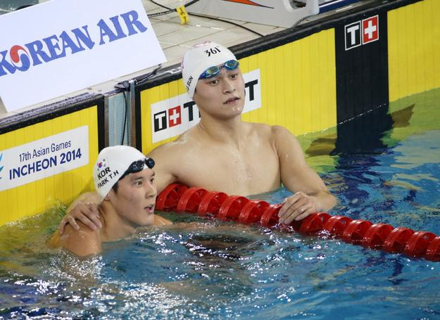 【游泳】1500米自由泳孙杨全程领先轻松夺