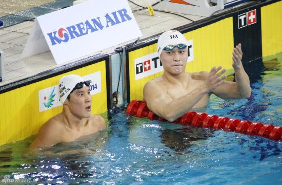 【游泳】孙杨:懊恼丢200米心疼朴泰桓