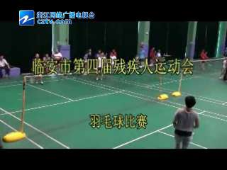 【临安市】第四届残疾人运动会羽毛球比赛