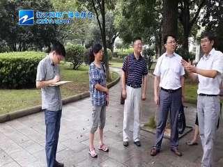 【江东区】宁波市政府督查室检查江东区健身路径更新工作