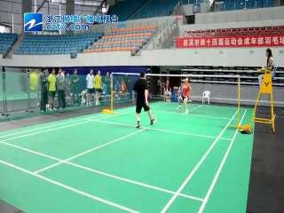 【慈溪市】崇寿镇参加第十四届市运会成年部羽毛球比赛