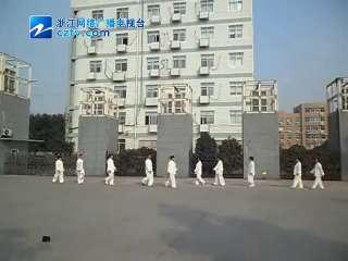 【瓯海区】梧田街道在文化广场开展综合武术展示活动
