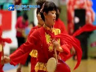 【黄岩区】海棠社区的腰鼓队参加表演