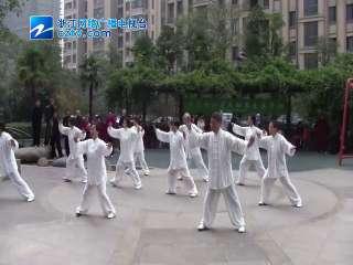 【拱墅区】阮家桥社区举办太极拳剑交流表演活动