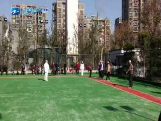 【拱墅区】小河街道紫荆公园门球场喜迎首场比赛