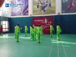 【拱墅区】塘河新村排舞队参加杭州市广场舞大赛