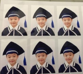 【体操】杨威晒杨阳洋幼儿园毕业照