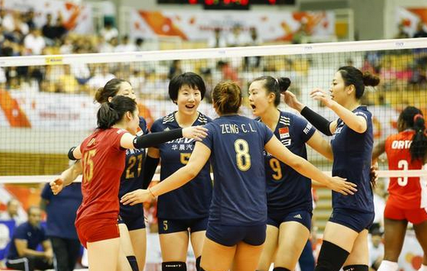 【女排】世界杯中国3-0轻取古巴