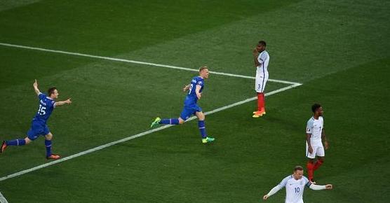 【欧洲杯】英格兰1-2负冰岛