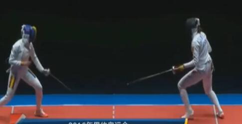女子重剑团体决赛 中国队摘得银牌