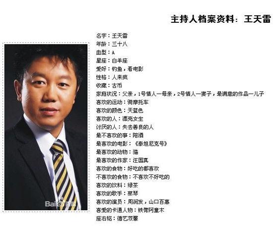 长春电台著名主持人王天雷