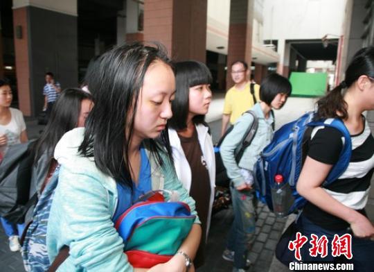 图为韩亚事故涉事浙江籍学生返回杭州。