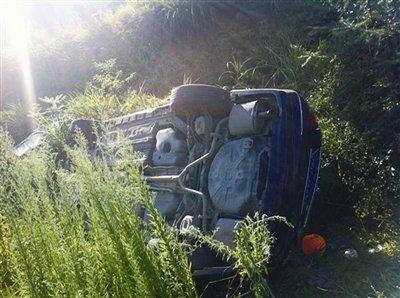 温州女子驾车不慎滚下山崖 安全带救了两条人命