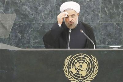 伊朗新总统联大温和亮相与奥朗德闭门会谈