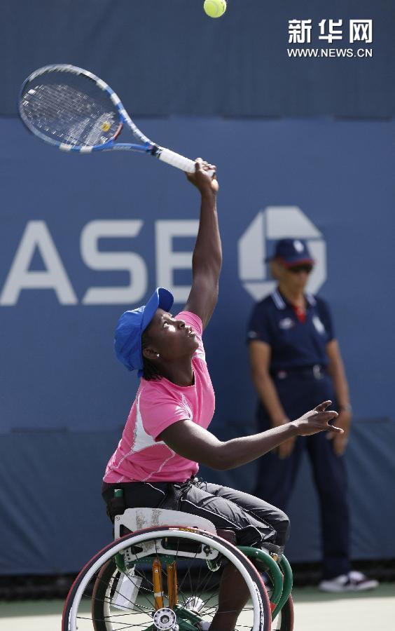 (体育)(4)网球——美网:网前的力量 轮上的风采