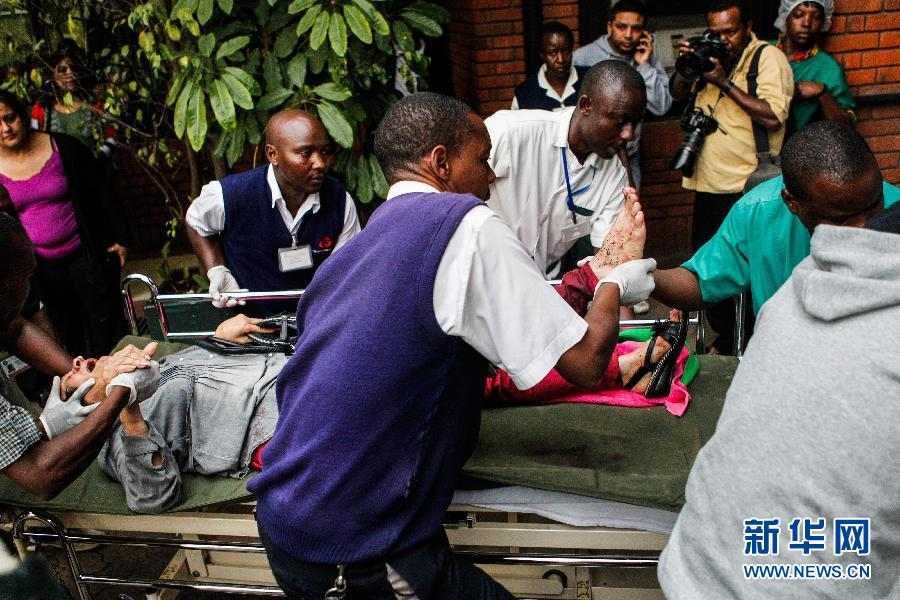 (国际)(11)肯尼亚购物中心袭击事件造成至少20人死亡