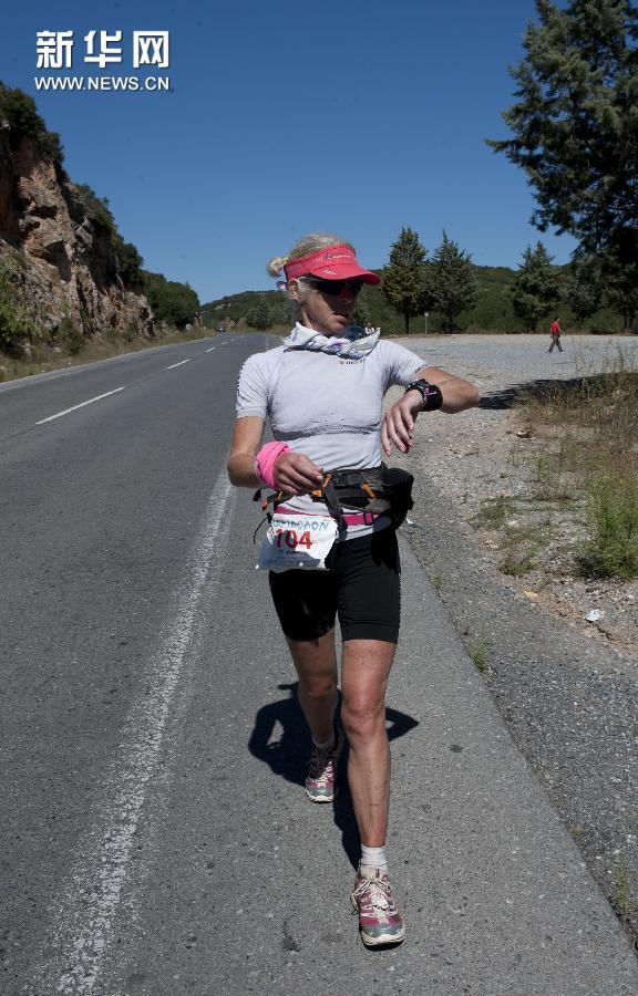 (体育)(8)马拉松——雅典-斯巴达超级马拉松落幕