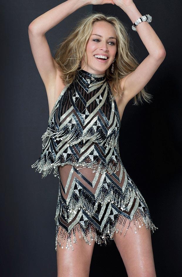 Sharon Stone poses