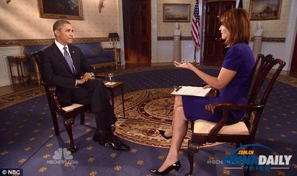奥巴马接受美国全国广播公司(NBC)采访