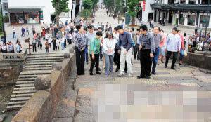 莉玛·胡贾女士一行考察塘栖广济桥