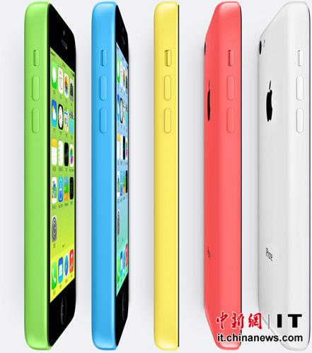 iPhone 5c硬件配置与iPhone5基本一致,只是换成了彩色外壳
