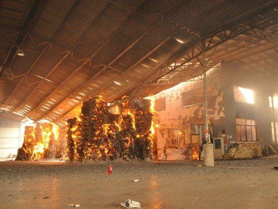 宁海科技园区电镀城一造纸企业发生火灾