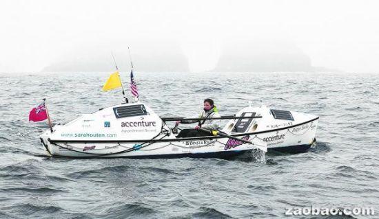 奥顿独自在海上航行近五个月,她的船在途中被巨浪打翻五次。