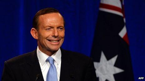 阿博特宣誓正式就任澳大利亚总理誓言推动经贸