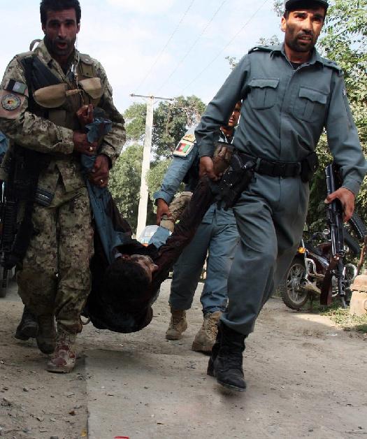 美驻阿富汗使馆连环爆炸和枪战 至少10死(组图)_图1-1