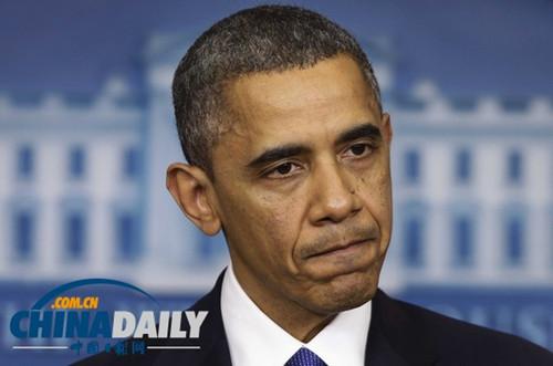 民调显示奥巴马总统支持率跌至两年来最低水平