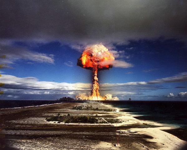 资料图:核武器爆炸场面。