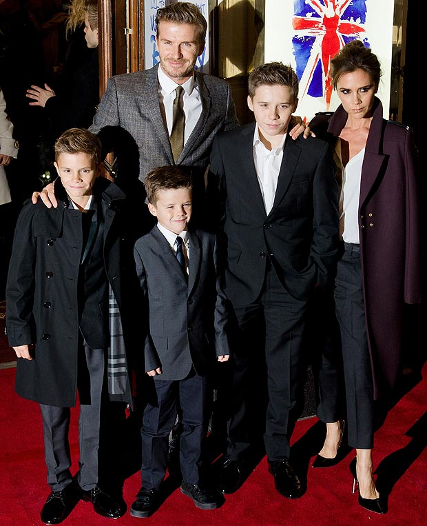 Home sweet home...The Beckhams at a London premiere