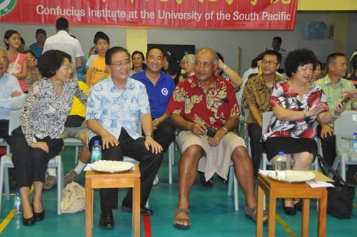 斐济侨团办庆中秋国庆活动中国大使与总统出席