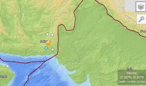 巴基斯坦强震震中再发6.8级地震源深14.8公里